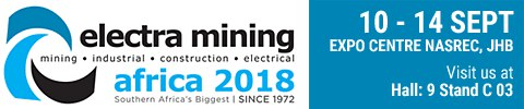 Electra Mining | 10-14 Sept 2018 | Expo Centre Nasrec JHB | Hall 9 Stand C 03